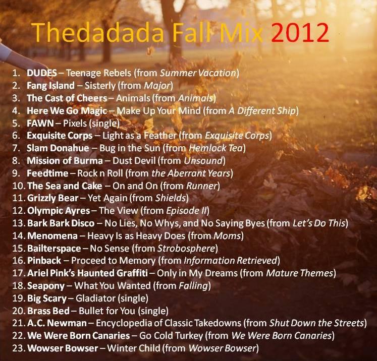 Thedadada Fall Mix 2012